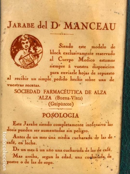 Catálogos publicitarios: Antiguo block de publicidad del Jarabe del doctor Manceau - SOCIEDAD FARMACEUTICA DE ALZA - Foto 2 - 164970282