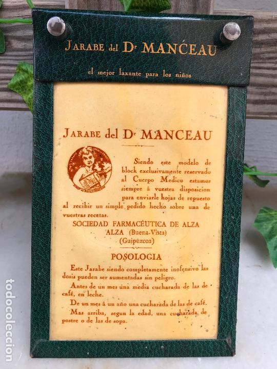 ANTIGUO BLOCK DE PUBLICIDAD DEL JARABE DEL DOCTOR MANCEAU - SOCIEDAD FARMACEUTICA DE ALZA (Coleccionismo - Catálogos Publicitarios)