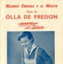 Catálogos publicitarios: OLLA A PRESIÓN MINUTE SAVOR. HACIA 1950.. Lote 165370670