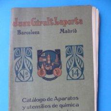 Catálogos publicitarios: JUAN GIRALT LAPORTA, CATALOGO DE APARATOS Y UTENSILIOS DE QUIMICA PARA LABORATORIOS, AÑOS 1920 . Lote 165604730