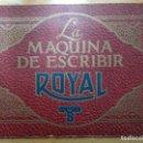 Catálogos publicitarios: CATALOGO. ROYAL, MAQUINA DE ESCRIBIR. Lote 165782714