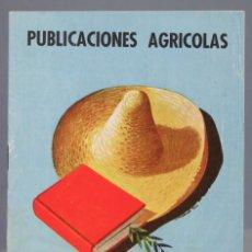 Catálogos publicitarios: CATALOGO PUBLICACIONES AGRICOLAS. 1957. Lote 165975766
