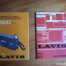 Catálogos publicitários: MANUAL DE MANEJO DEL RADIOTRANSISTOR 500-AM. / LAVIS RADIO - TV - SONIDO. 1975. Lote 165989234
