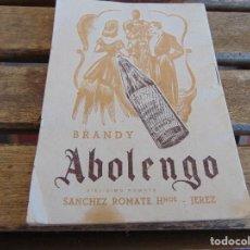 Catálogos publicitarios: PARQUE FLORIDA LIBRITO CON CANCIONES Y COCKTAIL POR JORGE HALPERN Y CASA SANCHEZ ROMATE MOLINERO. Lote 166113502