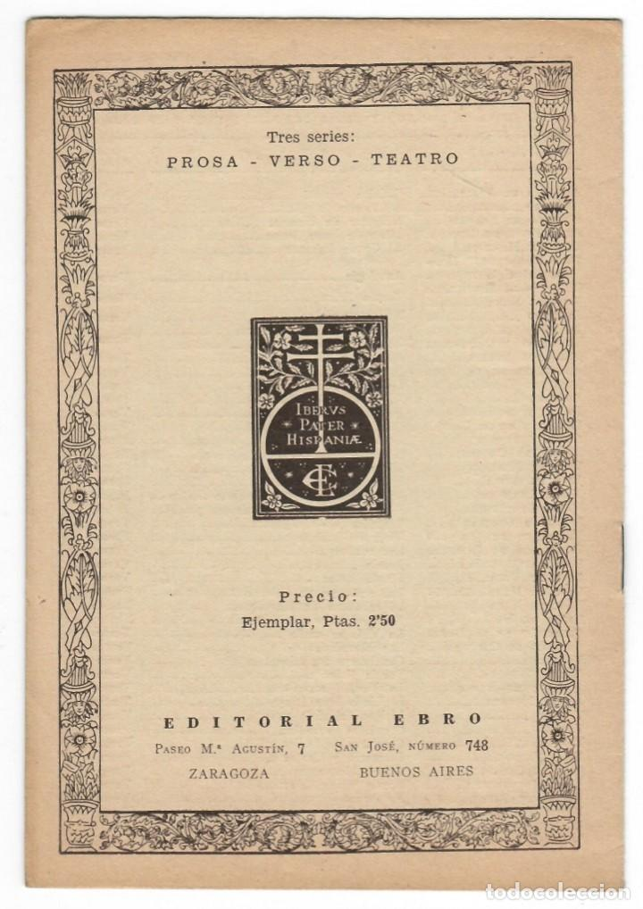 Catálogos publicitarios: Folleto publicitario, año 1939 / Clásicos Ebro - Folleto de la Biblioteca Clásica Ebro - Foto 2 - 166137266