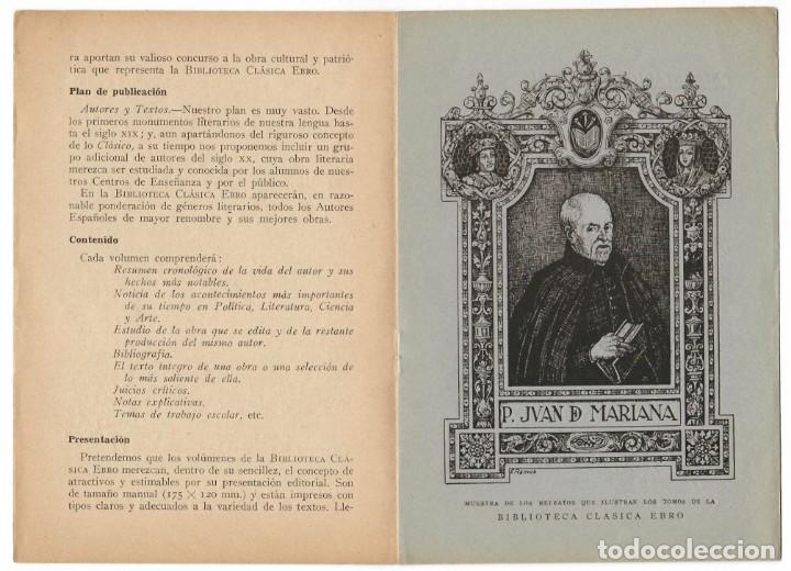Catálogos publicitarios: Folleto publicitario, año 1939 / Clásicos Ebro - Folleto de la Biblioteca Clásica Ebro - Foto 3 - 166137266
