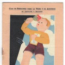 Catálogos publicitarios: LIBRETAS SEGURO INFANTIL DOTE O PENSIÓN - CAJA DE PENSIONES PARA LA VEJEZ Y DE AHORROS DE CATALUÑA... Lote 166138646