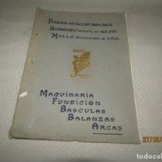 Catálogos publicitarios: ANTIGUO CATÁLOGO DE ARCAS CAJAS FUERTES BASCULAS BALANZAS DE TALLERES SANZ EN VALENCIA PUERTO. Lote 166177950