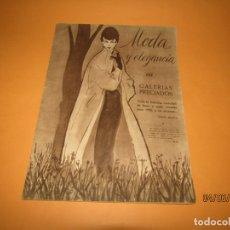 Catálogos publicitarios: ANTIGUO CATÁLOGO MODA Y ELEGANCIA DE GALERIAS PRECIADOS DEL AÑO 1953 CON GISELA Y PAYÁ. Lote 166989428