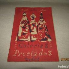 Catálogos publicitarios: ANTIGUO CATÁLOGO NAVIDAD AÑO NUEVO Y REYES DE GALERIAS PRECIADOS AÑO 1950-51 CON JUGUETES. Lote 167070756