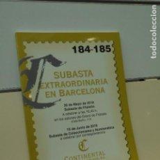 Catálogos publicitarios: CATALOGO SUBASTA EXTRAORDINARIA BARCELONA MAYO 2018 FILATELIA JUNIO 2018 COLECCIONISMO - CONTINENTAL. Lote 167123624