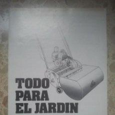 Catálogos publicitarios: SUMINISTROS ILAGA, BARCELONA - TODO PARA EL JARDÍN - ANTIGUO CATÁLOGO - DÍPTICO. Lote 180344658