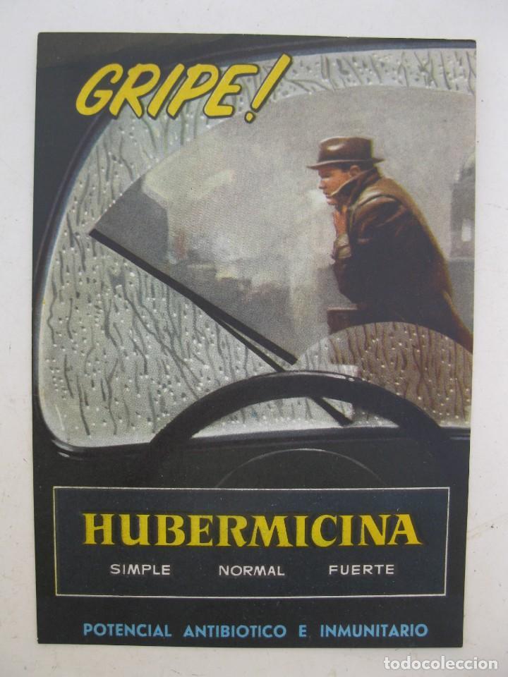 FOLLETO PUBLICITARIO - HUBERMICINA - POTENCIAL ANTIBIÓTICO E INMUNITARIO - AÑO 1962. (Coleccionismo - Catálogos Publicitarios)