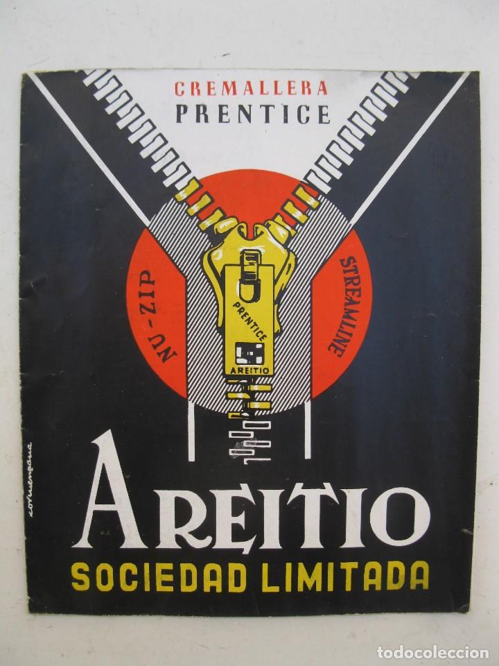 FOLLETO PUBLICITARIO - CREMALLERA PRENTICE - AREITIO - AÑOS 60. (Coleccionismo - Catálogos Publicitarios)