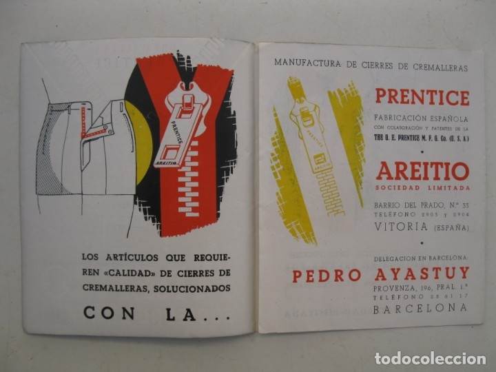 Catálogos publicitarios: FOLLETO PUBLICITARIO - CREMALLERA PRENTICE - AREITIO - AÑOS 60. - Foto 2 - 168054072