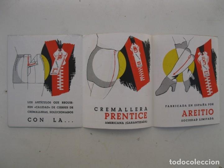 Catálogos publicitarios: FOLLETO PUBLICITARIO - CREMALLERA PRENTICE - AREITIO - AÑOS 60. - Foto 3 - 168054072