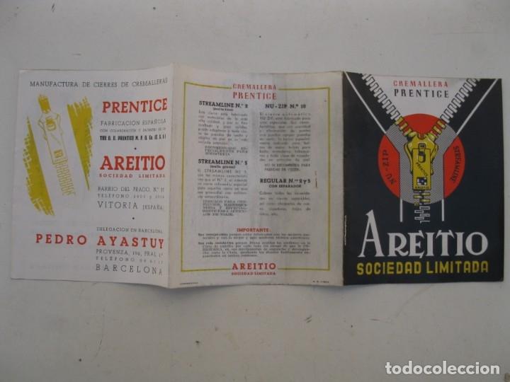 Catálogos publicitarios: FOLLETO PUBLICITARIO - CREMALLERA PRENTICE - AREITIO - AÑOS 60. - Foto 4 - 168054072