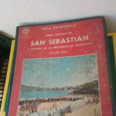 Catálogos publicitarios: GUIA TELEFONICA SAN SEBASTIAN Y PROVINCIA DE GUIPUZCOA JULIO 1965. Lote 168094876