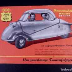 Cataloghi pubblicitari: MESSERSCHMITT KR200 DE LUXE. Lote 168741752