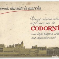 Catálogos publicitarios: CATÁLOGO PUBLICITARIO CODORNIU. CHARLANDO DURANTE LA MARCHA... SAN SADURNÍ DE NOYA. BARCELONA- 1962. Lote 168803904