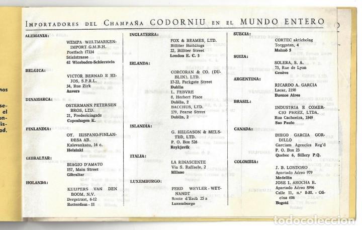 Catálogos publicitarios: CATÁLOGO PUBLICITARIO CODORNIU. CHARLANDO DURANTE LA MARCHA... SAN SADURNÍ DE NOYA. BARCELONA- 1962 - Foto 4 - 168803904