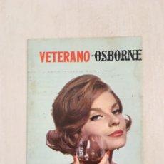 Catálogos publicitarios: PROGRAMA PUBLICITARIO VETERANO OSBORNE PUERTO DE SANTA MARIA TOROS 1967. Lote 169361473