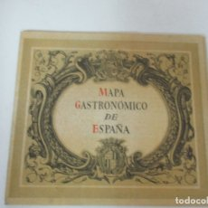 Catálogos publicitarios: ANTIGUO FOLLETO - CATÁLOGO MAPA GASTRONÓMICO DE ESPAÑA - FERIA DE MUESTRAS EN BARCELONA - AÑO 1945. Lote 169422696
