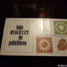 Catálogos publicitarios: 2 CATÁLOGOS PUBLICIDAD PIRELLI. BOTAS DE AGUA. NEUMÁTICOS.. Lote 169944584
