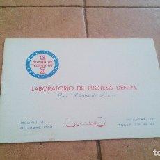 Catálogos publicitarios: 1963 - CATALOGO DE PRECIOS - LABORATORIOS LENCE (MADRID) - ODONTOLOGIA. Lote 170009220
