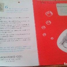 Catálogos publicitarios: 1955 - CATALOGO PUBLICITARIO - REVESTIMIENTO DENTALES LABORATORIO COLL (MADRID). Lote 170034496