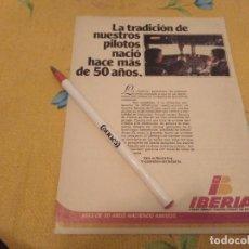 Catálogos publicitarios: ANTIGUO ANUNCIO PUBLICIDAD LINEAS AEREAS INTERNACIONALES IBERIA ESPECIAL PARA ENMARCAR. Lote 170183968