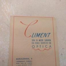 Catálogos publicitarios: ANTIGUA PUBLICIDAD ÓPTICA CLIMENT - VALENCIA -. Lote 170215784