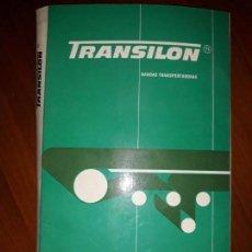 Catálogos publicitarios: CATÁLOGO MUESTRARIO CINTA BANDA TRANSPORTADORA TRANSILON SUCESOR PÉREZ VERDÚ ALCOY ALICANTE + MUESTR. Lote 170300808