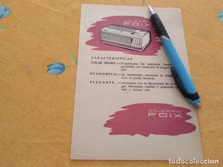 ANTIGUO ANUNCIO PUBLICIDAD REVISTA CALENTADOR CALORFIC FOIX ESPECIAL PARA ENMARCAR (Coleccionismo - Catálogos Publicitarios)