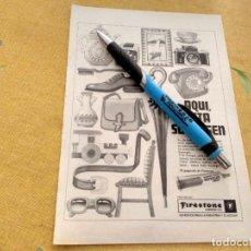 Catálogos publicitarios: ANTIGUO ANUNCIO PUBLICIDAD REVISTA PEGAMENTO SUPERGEN FIRESTONE ESPECIAL PARA ENMARCAR. Lote 170355256