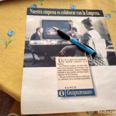 Catálogos publicitarios: ANTIGUO ANUNCIO PUBLICIDAD REVISTA BANCO GHIPUZCOANO ESPECIAL PARA ENMARCAR. Lote 170356464