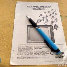 Catálogos publicitarios: ANTIGUO ANUNCIO PUBLICIDAD REVISTA TELEVISOR TELEVISION SABA AÑOS 60 ESPECIAL PARA ENMARCAR. Lote 170362660