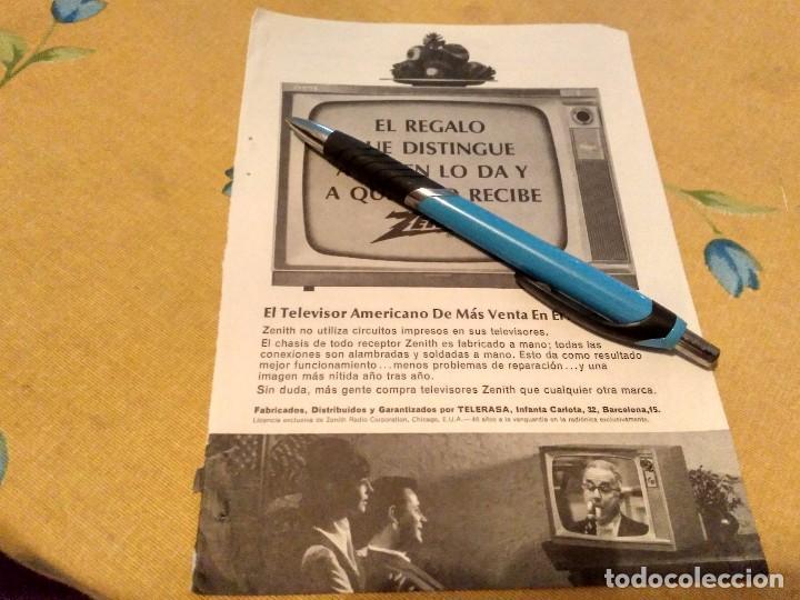 ANTIGUO ANUNCIO PUBLICIDAD REVISTA TELEVISION TELEVISOR ZENITH AÑOS 60 ESPECIAL PARA ENMARCAR (Coleccionismo - Catálogos Publicitarios)