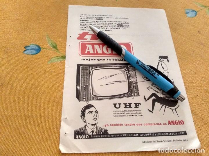 ANTIGUO ANUNCIO PUBLICIDAD REVISTA TELEVISION TELEVISOR UHF ANGLO AÑOS 60 ESPECIAL PARA ENMARCAR (Coleccionismo - Catálogos Publicitarios)