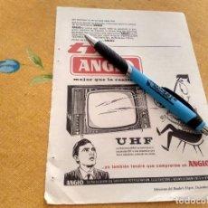 Catálogos publicitarios: ANTIGUO ANUNCIO PUBLICIDAD REVISTA TELEVISION TELEVISOR UHF ANGLO AÑOS 60 ESPECIAL PARA ENMARCAR. Lote 170406380