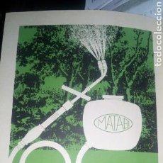 Catálogos publicitarios: PULVERIZADOR MATABI. HOJA COMPLETA. AÑO 1967. PAPEL DURO. 20 X 30 CM. Lote 170457489