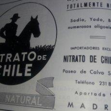 Catálogos publicitarios: NITRATO DE CHILE. PUBLICIDAD AÑOS 60. Lote 170458193