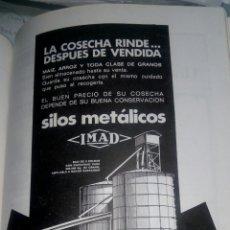 Catálogos publicitarios: SILOS METALICOS IMAD. PUBLICIDAD AÑOS 60. PAGINA COMPLETA. Lote 170458698
