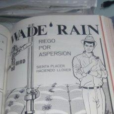 Catálogos publicitarios: WADE RAIN. RIEGO POR ASPERSION. PUBLICIDAD AÑOS 60. PAGINA COMPLETA. Lote 170459709