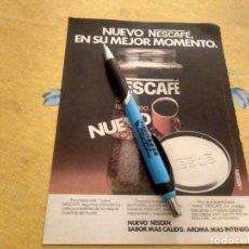Catálogos publicitarios: ANTIGUO ANUNCIO PUBLICIDAD REVISTA NESCAFE CAFE INSTANTANEO ESPECIAL PARA ENMARCAR. Lote 170518028