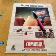 Catálogos publicitarios: ANTIGUO ANUNCIO PUBLICIDAD HOJA REVISTA ZUMO ZUMOSOL ESPECIAL PARA ENMARCAR. Lote 170918375
