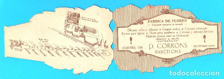Catálogos publicitarios: DÍPTICO PUBLICITARIO. FÁBRICA DE FLORES ARTIFICIALES P. CORRONS. BARCELONA, SIN FECHA. - Foto 3 - 171102177