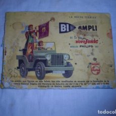 Catálogos publicitarios: ANTIGUO CATALOGO NOVOSONIC.BI AMPLI.PHILIPS.MODELOS 1957. Lote 171146500