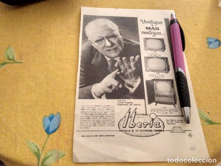ANTIGUO ANUNCIO PUBLICIDAD REVISTA TELEVISOR IBERIA ESPECIAL PARA ENMARCAR (Coleccionismo - Catálogos Publicitarios)