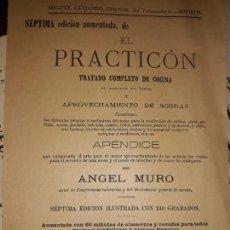 Catálogos publicitarios: FOLLETO PUBLICIDAD EL PRACTICÓN MADRID COCINA ÁNGEL MURO EDICIÓN ILUSTRADA PROSPECTO 1895 5 PESETAS. Lote 171220292